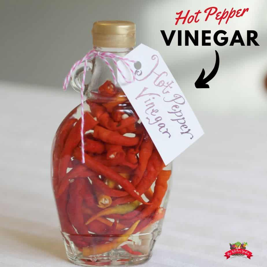 red peppers in clear jar