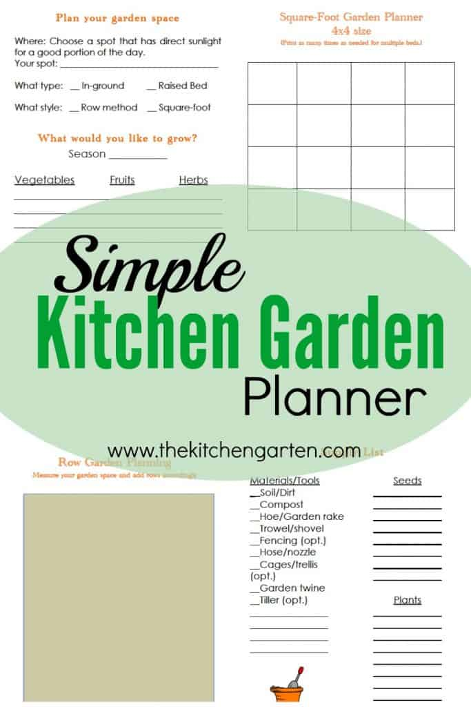 photograph regarding Printable Garden Planner identified as Printable Free of charge Backyard garden Planner! - The Kitchen area Garten