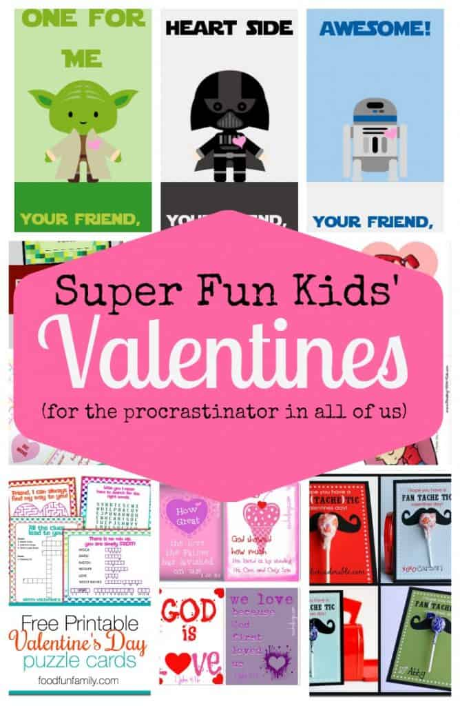 graphic relating to Kids Valentines Printable titled Tremendous Enjoyable Young children Valentines (Cost-free Printables!) - The Kitchen area