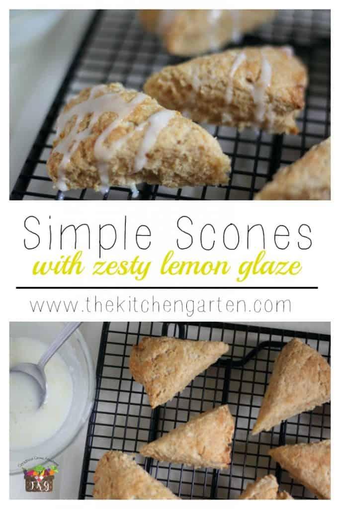 lemon glazed scones