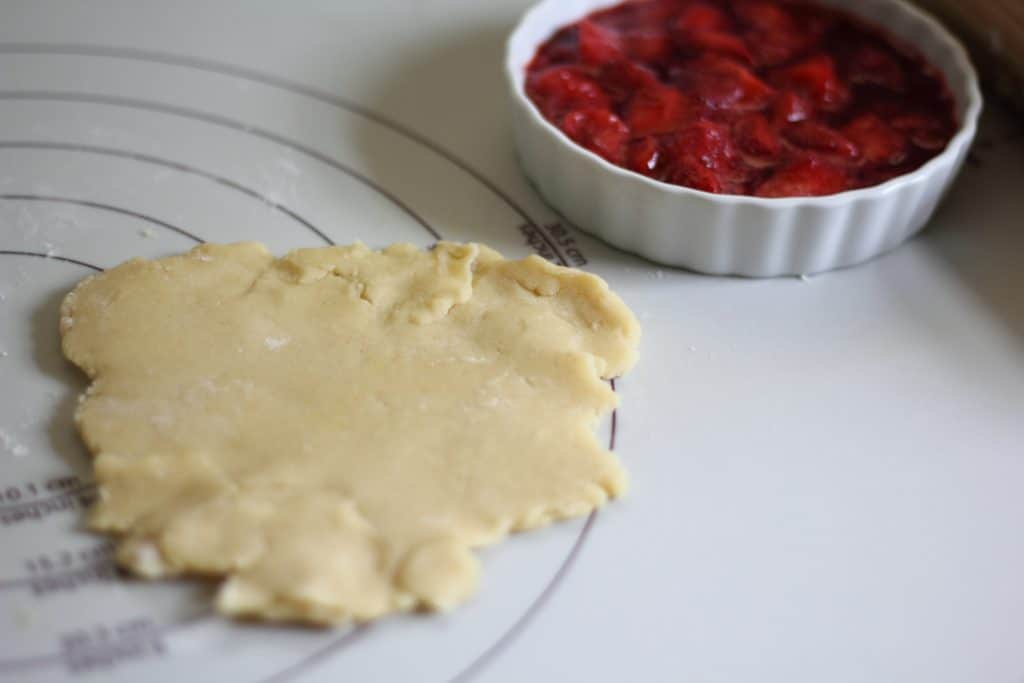 dough and berries