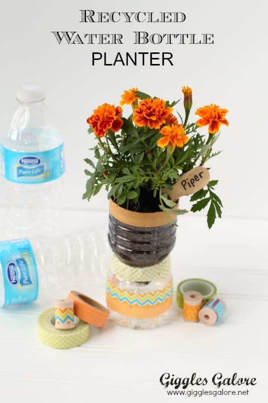 recycled water bottle