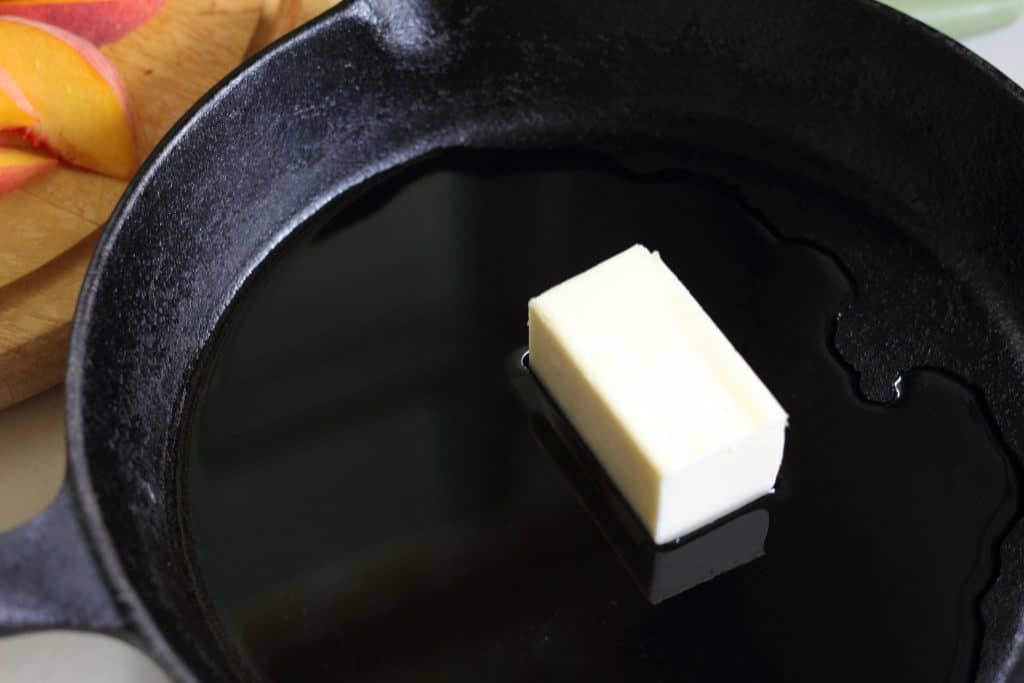 butter in a cast iron skillet