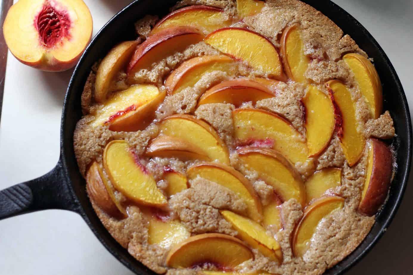 peach cobbler skillet
