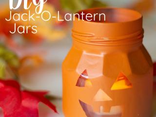 DIY Jack-O-Lantern Jar