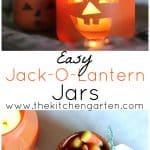 DIY Recycled Jack-O-Lantern Jars