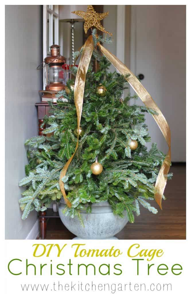 Tomato Cage Christmas Tree.Diy Tomato Cage Christmas Tree The Kitchen Garten