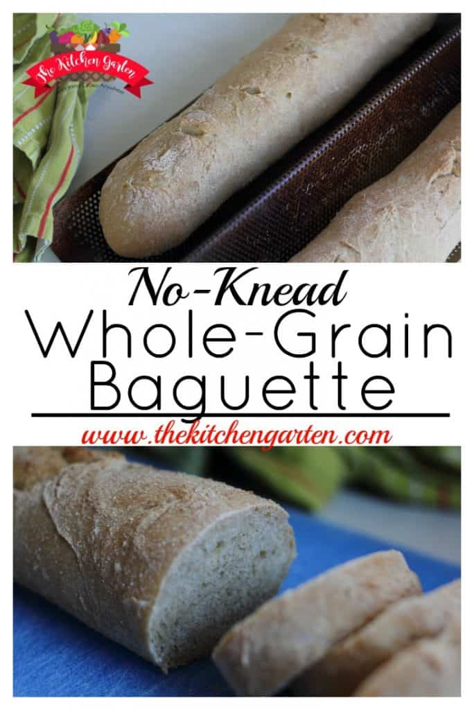 whole grain baguette baked in a baguette pan