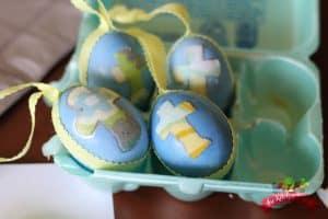 mod podge easter eggs