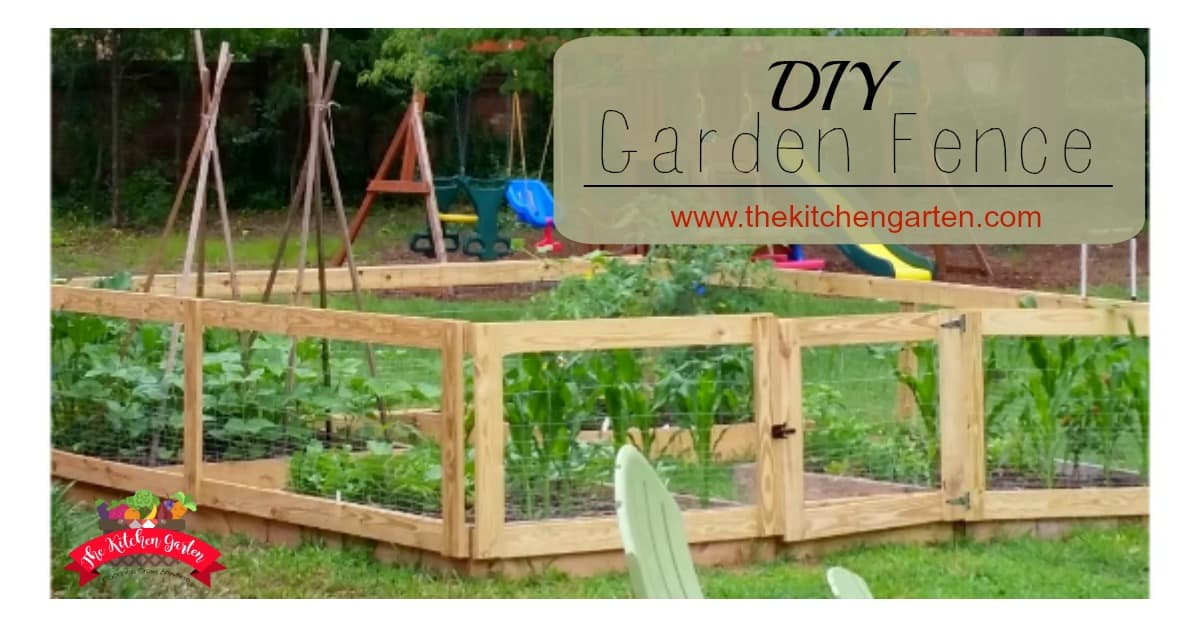 How To Build A Diy Raised Bed Garden Fence The Kitchen Garten