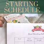 seed starting schedule printable