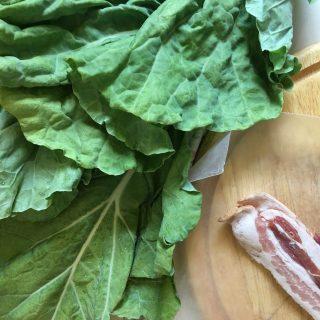 Balsamic Bacon Collard Greens