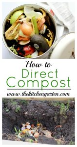 howto make compost in garden bed