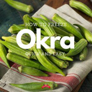 fresh okra on a burlap dish cloth