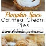 pumpkin spice cream pies
