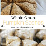 pumpkin scones with cinnamon glaze