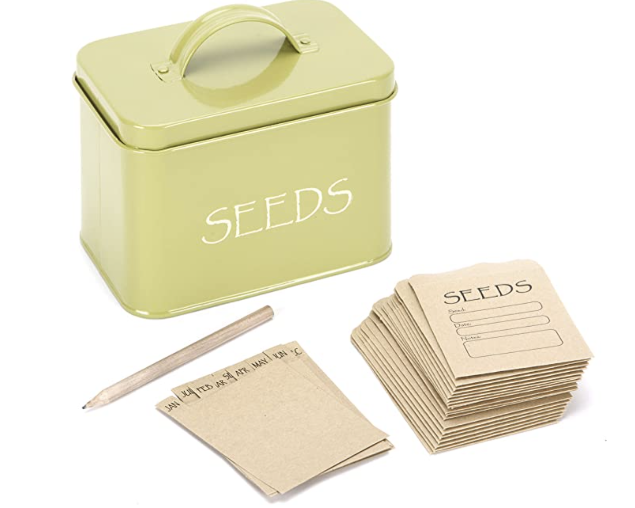 seed storage box with envelopes