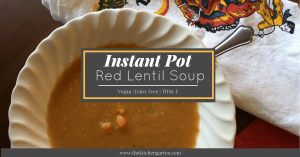 instant pot red lentil soup