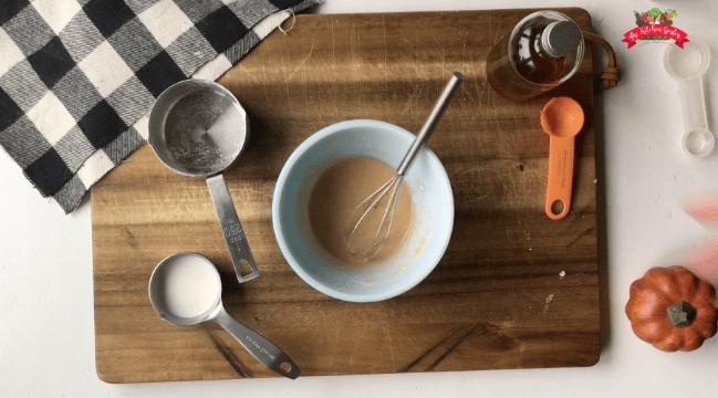 whole grain pumpkin scones with cinnamon glaze