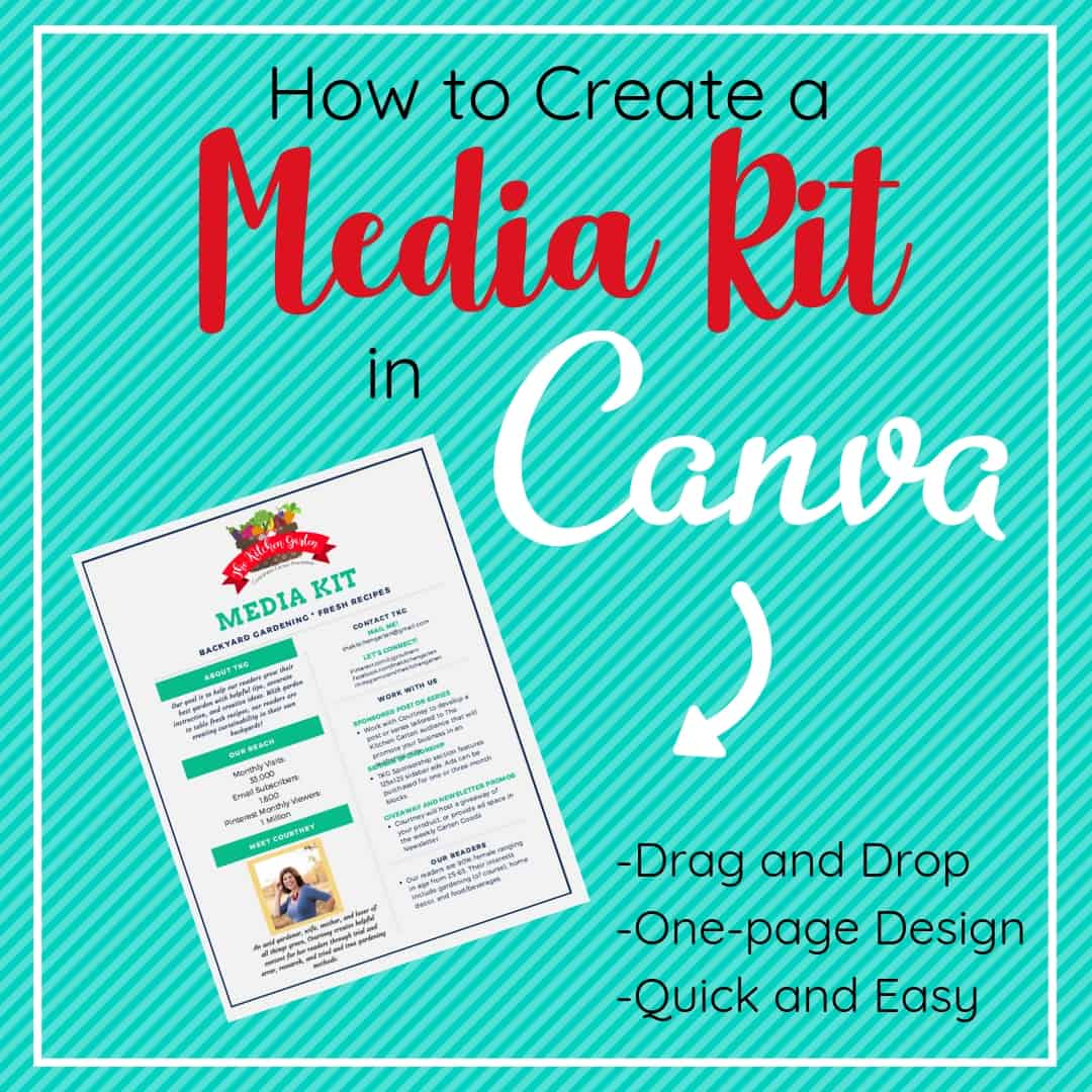 media kit in canva