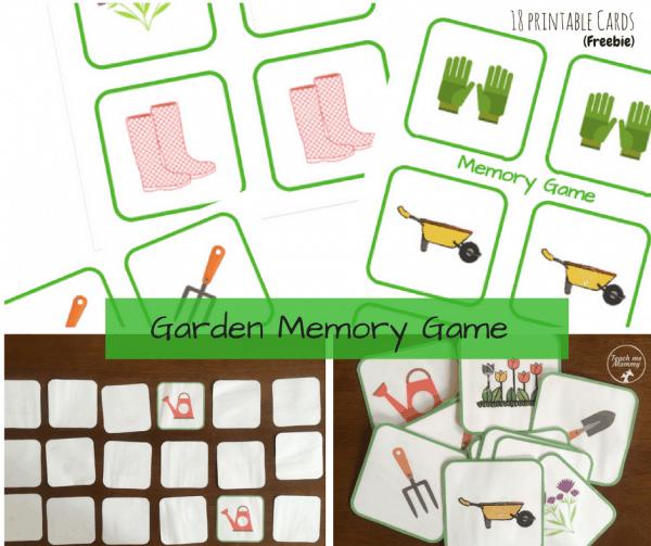 garden memory cards on a table