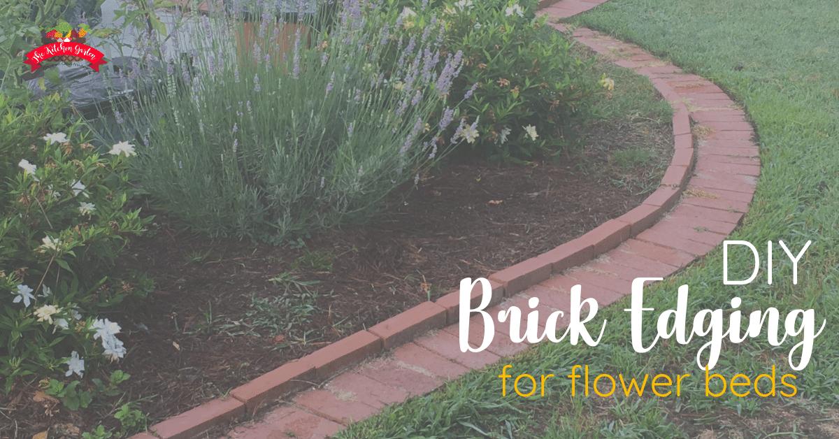 Diy Brick Garden Edging In A Weekend, How To Lay Brick Pavers Garden Edging