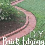 brick garden edging in lawn