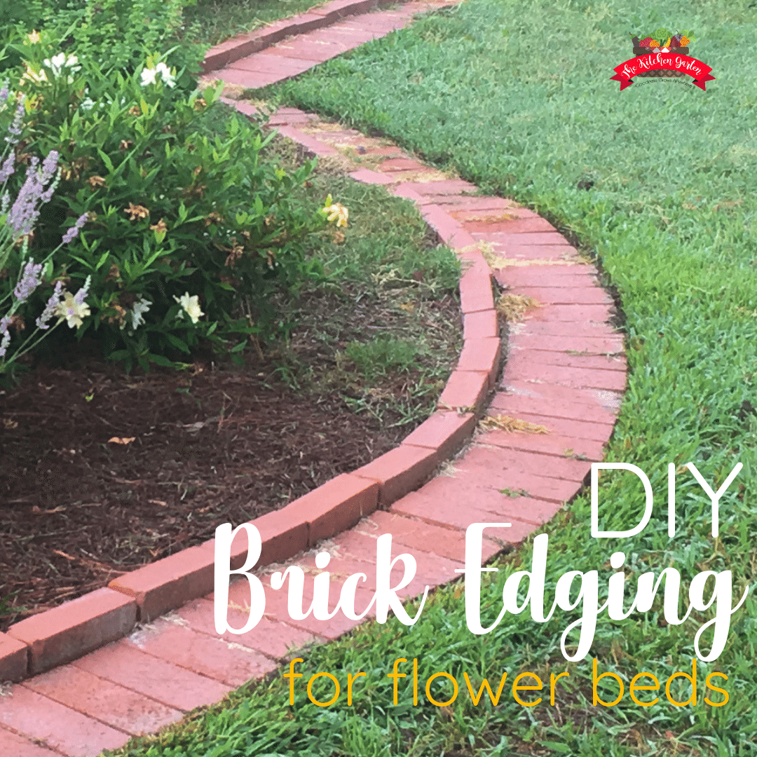 brick garden edging in yard
