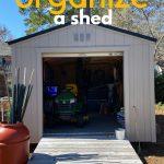 shed with door open
