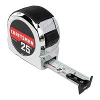 CRAFTSMAN Tape Measure, Chrome Classic, 25-Foot (CMHT37325S)
