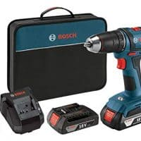 Bosch Power Tools Drill Driver Kit DDB181-02 - 18V Cordless Drill/Driver Tool Set with 2 Lithium Ion Batteries, 18 Volt Charger