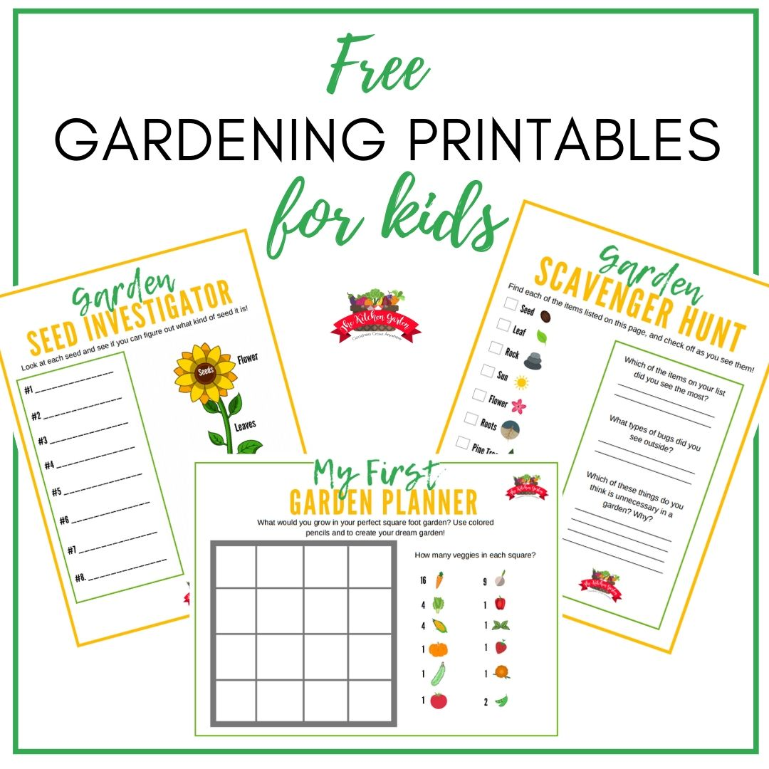 free gardening printables for kids