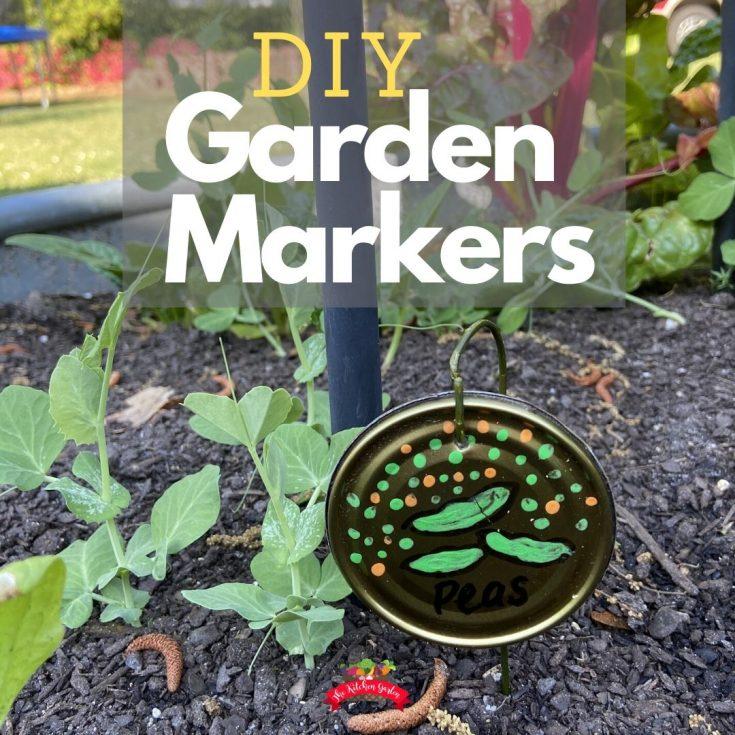 vegetable garden marker in garden