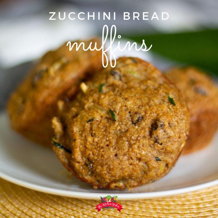 Whole Grain Zucchini Bread Muffins