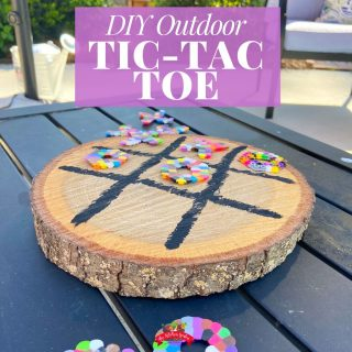 DIY Outdoor Tic-Tac-Toe