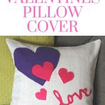 Felt Valentines Day Pillow Cover