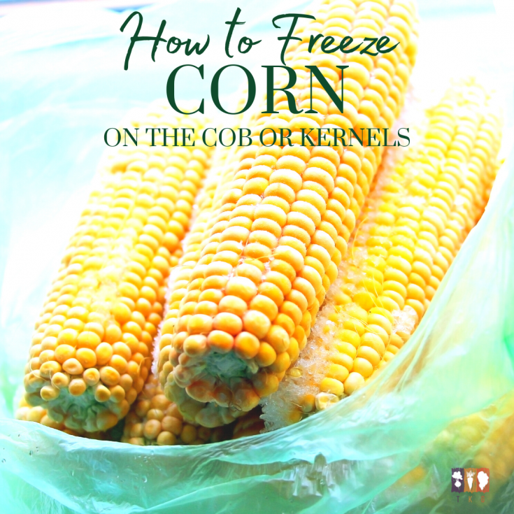 frozen corn on the cob in a bag