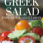 cucumbers and tomatoes in a greek salad